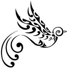 Swallow Bird Te Manaia Koru Waves Freedom Voyage Return - Free Download Tattoo #36855 Swallow