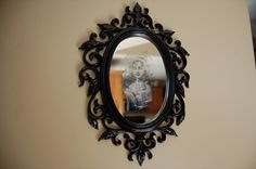 How to make a ghostly image mirror. Instead of scratching, try a light application of paint thinner for a smoother look.