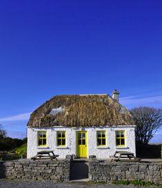 raindropsonroses-65: Little cottage cafe. the Aran Islands, Ireland (David Prior Photography)