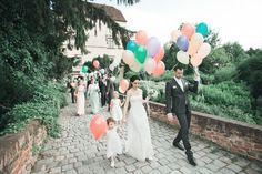Wedding photography in Obermayerhofen Styrian region of Austria. Photojournalistic & Fine art photography at castle. Fine Art Photography, Wedding Photography, Balloon Release, Wedding Balloons, Traditional Wedding, Destination Wedding, Destination Weddings, Wedding Photos, Wedding Pictures