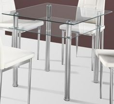 Furniture In Fashion Callisto Clear Glass Dining Table Only