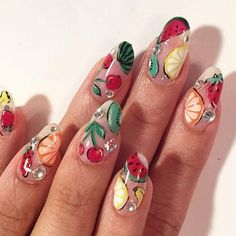 The Fruit-Themed Manicure is the Ultimate Summer Nail Trend fruit nails