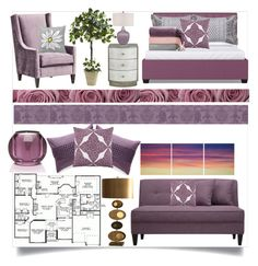 """Mauve is Not Grape"" by nikkimmorrison ❤ liked on Polyvore featuring interior, interiors, interior design, home, home decor, interior decorating, Nexxt, Calvin Klein, KARTELL FRAGRANCES and J. Queen New York"