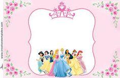 Kit festa Princesas - Free For Personal Use Princess Party, Princess Peach, Disney Princess, Princess Birthday Invitations, Cute Frames, Ideas Para Fiestas, Barbie, Diy Invitations, Princesas Disney