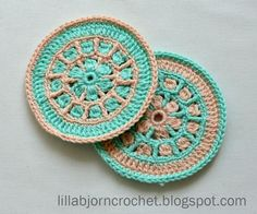 North Sea Mandala Crochet Coaster ~ UPDATED JAN. 12, 2017 ~ easy level ~ FREE - CROCHET