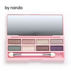 by nanda Pro 8 Colors Eyeshadow Palette Eye Shadow Cosmetic Makeup Set Lady Eye Make Up Beauty With Blending Eye Brush Newest
