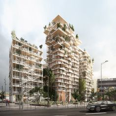 Sky Forests: Sou Fujimoto and Laisné Roussel Propose Vegetated Towers for Bordeaux - Architizer