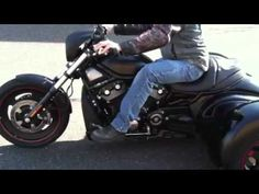 Harley v-rod night rod trike . The Dog's Bollocks! Harley Night Rod, Harley V Rod, Motorcycles, Bike, Dogs, Youtube, Bicycle, Pet Dogs, Bicycles