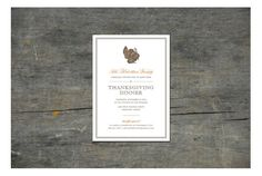 Thanksgiving Dinner Personalized Invitation DIY by ihearttoparty Unique Invitations, Personalized Invitations, Printable Invitations, Wedding Invitations, Thanksgiving Feast, Event Planning, Birthday Parties, Custom Design, Stationery