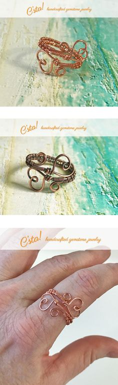 $9.00 Heart Ring in Copper by C'sta!