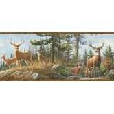 Found it at Wayfair - Borders by Chesapeake 15' x 8'' Garth Whitetail Crest Portrait Animal Embossed Border Wallpaper