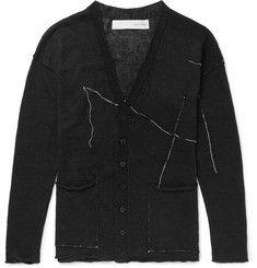 Isabel Benenato Slim-fit Embroidered Linen Cardigan In Black Fashion News, Mens Fashion, Mr Porter, Designer Clothes For Men, White Embroidery, Black Linen, Black Cardigan, Women Wear, Man Shop