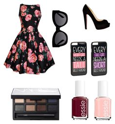 Без названия #15 by klubnika48 on Polyvore featuring polyvore, beauty, NARS Cosmetics, Essie, JFR, Karen Walker and Christian Louboutin