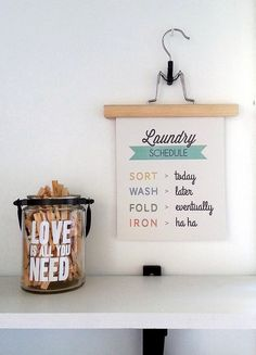 40 Fabulously Free Bathroom & Laundry Room Printables - Dwelling In Happiness.hang printables from hangers instead of in frames! Decorate for free using these 40 fabulous free bathroom & laundry room printables! The best way to DIY decorate on a budget! Laundry Room Pictures, Tiny Laundry Rooms, Laundry Decor, Laundry Room Bathroom, Laundry Shop, Coin Laundry, Laundry Signs, Bathrooms, Hygge