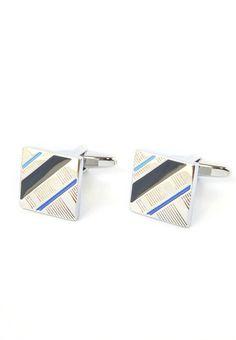 Blue Striped Square Cufflinks! For everyday wear! #splicecufflinks #cufflink #cufflinks #mensfashion #men #mensaccessories #menstyle #style #singapore #england #fashion #fleamarket #unique #standout #groomsmencuffs #groomsmencufflinks #supportlocal http://www.splicecufflinks.com