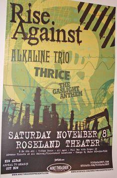 Rise Against poster concert $9.84 #RiseAgainst #Thrice