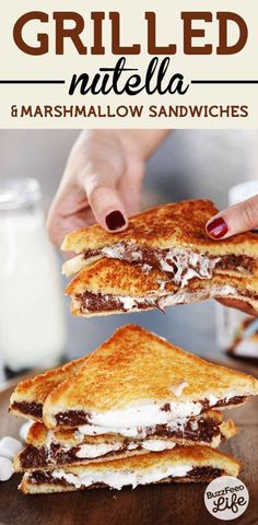 Delicious Grilled Nutella Marshmallow Sandwiches