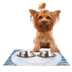 Kess InHouse Anchobee 'Pulp' Feeding Mat for Pet Bowl, 24 by 15-Inch ^^ Additional info  : Cat items