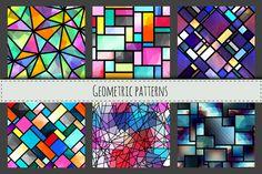 Seamless geometric patterns. by tkdesign on @creativework247