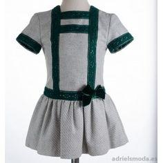 Vestido de niña gris de Dolce Petit