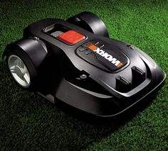 Worx Landroid Robot Lawn Mower. See it in action here http://www.youtube.com/watch?v=yySg53pgfHw=youtu.be