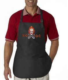King of the Grill EMBROIDERED Men's Apron