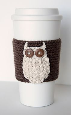 Coffee cozy coffee sleeve chocolate brown sleeve by TableTopJewels, $20.00