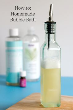 My girls are always begging to have a bubble bath, begging! But every time we use commercial bubble bath from the store, it irritates their skin. Not good, especially with a child who has eczema. So I
