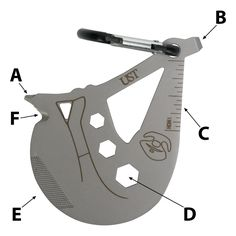 The UST Tool A Long Sloth is a stainless steel multi-tool that is designed for a variety of tasks. It easily clips on your gear, belt, bag, and more.