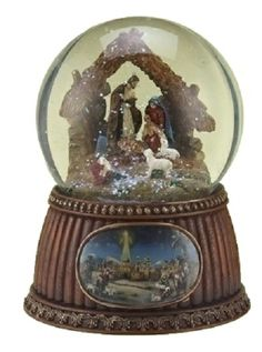 Nativity Snow Globes | Details about Musical Nativity Glitter Christmas Snow Dome Globe O ...