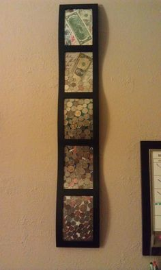 This is a fun cool looking way to display your coin collect.
