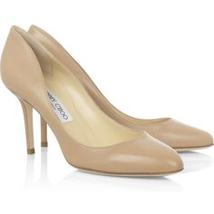 Jimmy Choo 'Gilbert' Nude Leather Pumps as seen on Kate Middleton, The Duchess of Cambridge Nude Pumps, High Heel Pumps, Heels, Leather Court Shoes, Leather Pumps, Shoes For Less, Me Too Shoes, Kate Middleton Shoes, Jimmy Choo Shoes