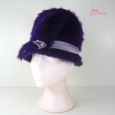 60er Jahre Hut / 60er Jahre Umb lila Cloche Hut von JacquieVintage