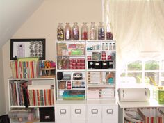 Ultimate scrapbook and craft station: so organized it's scary!