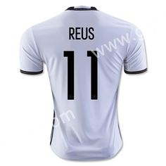 78b6d5203 2016 European Cup Germany REUS Home White Thailand Soccer Jersey-Germany