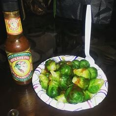 Pickapeppa Spicy Mango sauce with brussel sprouts! Have you tried this combo? #CustomerPic