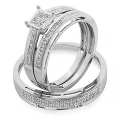 Quick and Easy Gift Ideas from the USA  0.18 Carat (ctw) 10K Gold Round Diamond Ladies & Mens His Hers Bridal Engagement Ring Trio Set Band http://welikedthis.com/0-18-carat-ctw-10k-gold-round-diamond-ladies-mens-his-hers-bridal-engagement-ring-trio-set-band #gifts #giftideas #welikedthisusa