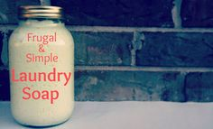 Home made laundry soap
