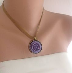 Bridesmaids Gift Necklace,Lavender Resin flower jewelry,resin cabochon,resin jewelry necklace, flower necklace,…