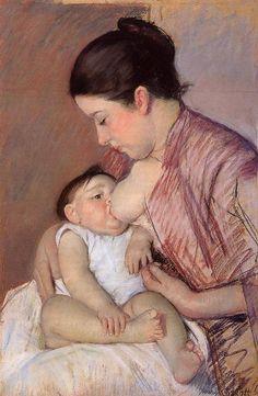 Motherhood 1890 by Mary Cassatt