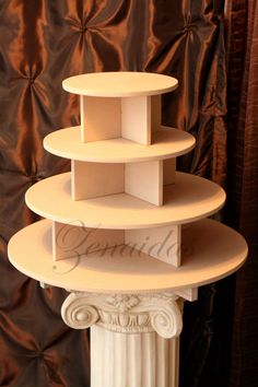 Cupcake Stand 4 Tier Round 85 Cupcake MDF Wood Cupcake Tower Display Stand Birthday Stand Wedding Stand DIY Project on Etsy, $39.00