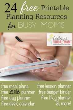Are you a busy mom that could use some help planning in the new year? Come check out these 24 free printable planning resources for busy moms! To Do List Printable, Printable Planner, Free Printables, Planner Stickers, Printable Labels, Agenda Organizer, Planner Organization, Organization Station, Blog Planner