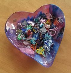 Sue's Hearts! - A gorgeous private collection of my Handmade Hearts in a lovely heart shaped dish! Eye Candy & Zero Calories... Sue, thanks for sharing!