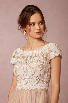 Seville Topper in Bride at BHLDN - front (Option 1)