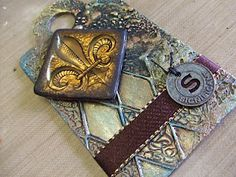 Tutotial : Metal + UTEE = Fab embellishment!..This could be used as a jewelry piece or for a alter art project.. Awesome tut!