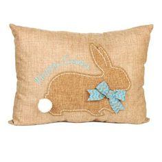 Stitched Easter Bunny Burlap Pillow   Kirklands daisy!!