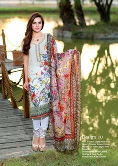 Zainab Chottani Embroidered Chiffon Eid Collection 2016   PK Vogue