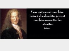 Stupidity and atrocity  Voltaire  Social Quote French Quote Philosopher
