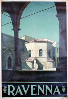 1930s Ravenna vintage travel poster Italy