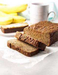 This is the BEST coconut flour banana bread recipe! No oil or added sugar required, this bread is moist and healthy. Gluten-free, nut-free, Paleo.